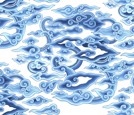 blueclouds-indones01 fabric by eva_the_hun on Spoonflower - custom fabric