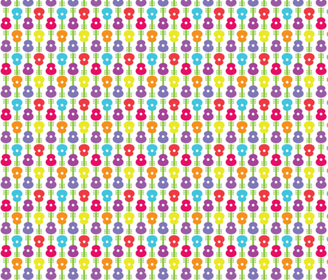 Guitar Flowers CC fabric by pixeldust on Spoonflower - custom fabric