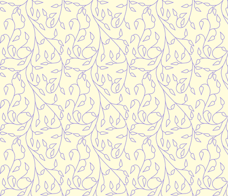 vll_periwinkle_vines-ed fabric by victorialasher on Spoonflower - custom fabric