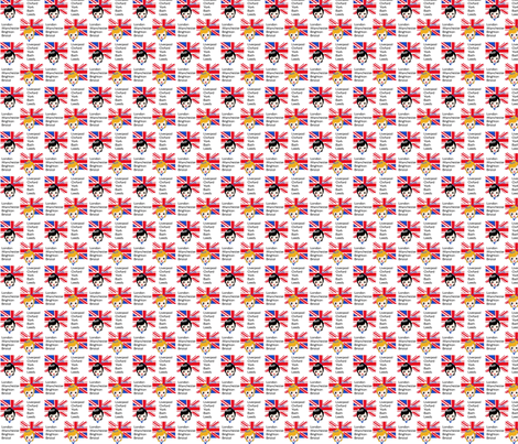 Brit Chick fabric by kiwicuties on Spoonflower - custom fabric