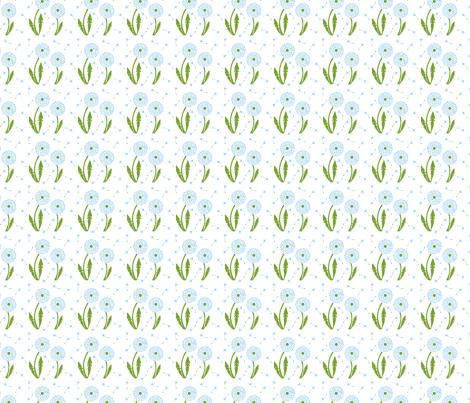Dandelion Delirium-Light Blue-ch fabric by mayabella on Spoonflower - custom fabric