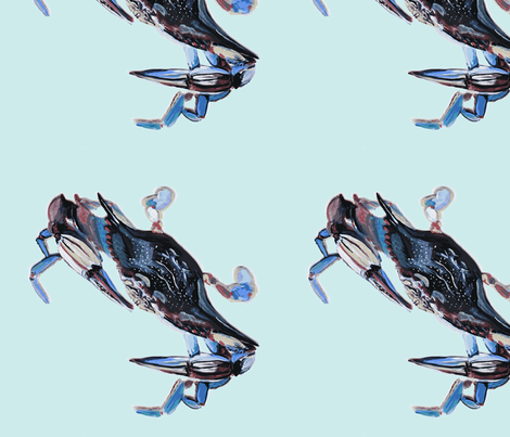 VERY Crabby fabric by snazzyfrogs on Spoonflower - custom fabric