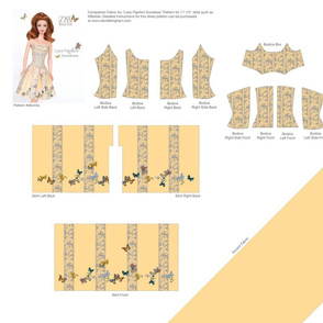 "Lace Papillon Sundress for 11 1/2"" dolls"