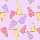 Cake Cookies on Purple