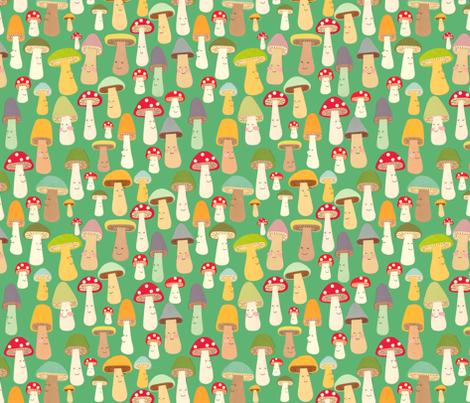 more mushrooms fabric by heidikenney on Spoonflower - custom fabric