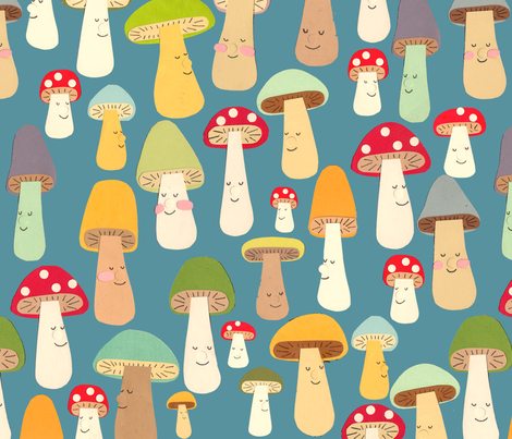 mushrooms  fabric by heidikenney on Spoonflower - custom fabric