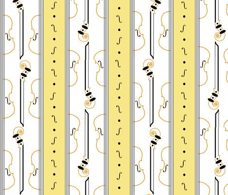 violin_stripe fabric by ali_c on Spoonflower - custom fabric