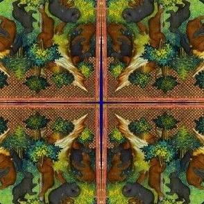 Vintage Printable - Medieval Bear Families- Saturated