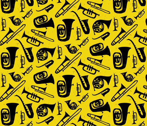 Hot Jazz fabric by jenimp on Spoonflower - custom fabric