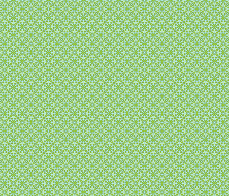 Dahlias - Light Green & Blue fabric by stephane on Spoonflower - custom fabric