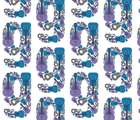 G is for Guitar fabric by kimnlove56 on Spoonflower - custom fabric