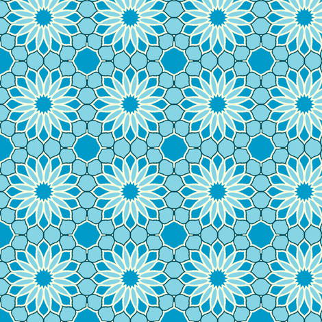 Rock Daisies - Sky Blue fabric by inscribed_here on Spoonflower - custom fabric