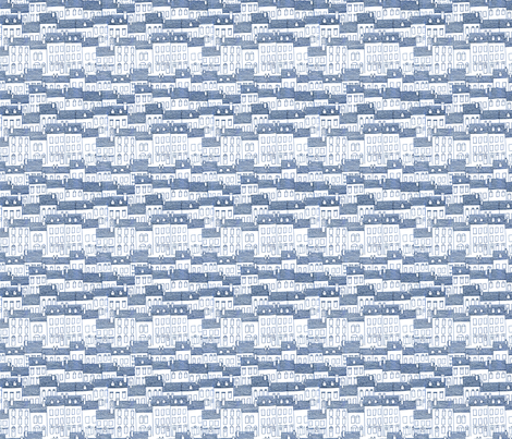 city blue fabric by nadja_petremand on Spoonflower - custom fabric