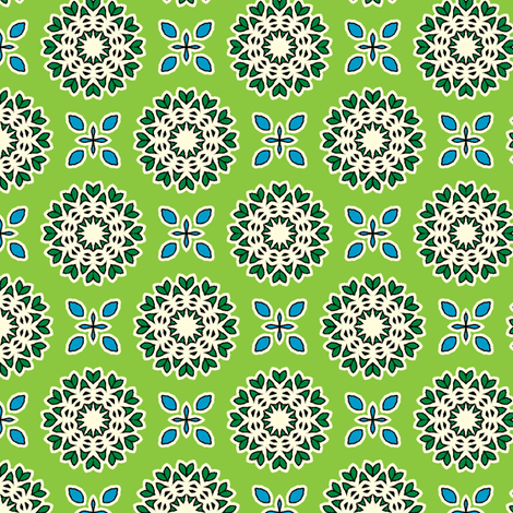Full Bloom - Bamboo Green fabric by inscribed_here on Spoonflower - custom fabric