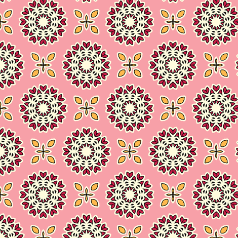 Full Bloom - Rose Red fabric by inscribed_here on Spoonflower - custom fabric