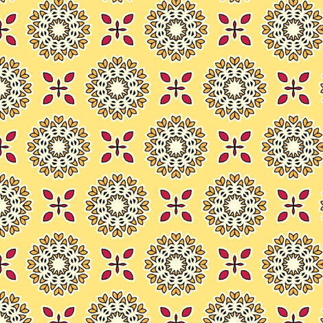 Full Bloom - Sunshine Yellow fabric by inscribed_here on Spoonflower - custom fabric