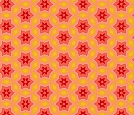 Star's Heart - Red Hot fabric by inscribed_here on Spoonflower - custom fabric