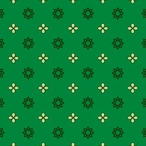 Starry Petals - Bamboo Green