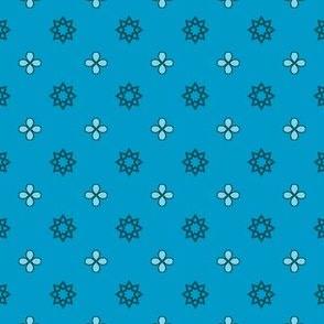 Starry Petals - Sky Blue