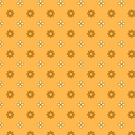 Starry Petals - Sunshine Yellow fabric by inscribed_here on Spoonflower - custom fabric