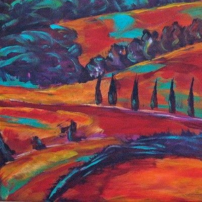 Fauvist Tuscany