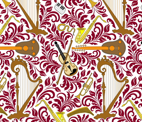 Music fabric by andrea11 on Spoonflower - custom fabric