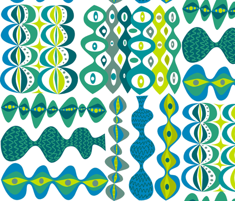 Takahashi_Blue fabric by antoniamanda on Spoonflower - custom fabric