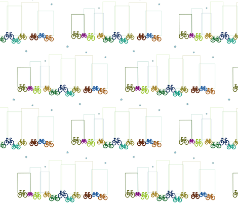 citybike fabric by luluhoo on Spoonflower - custom fabric