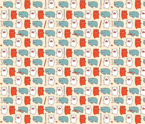 Happy Bears Take Note fabric by marilynpatrizio on Spoonflower - custom fabric