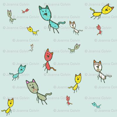 Kaids_Kitty Aqua Small print