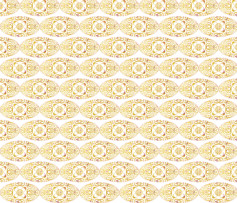 sprudla_mustard_ellipse fabric by snork on Spoonflower - custom fabric