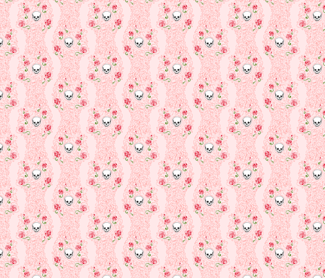 Where the Wild Roses Grow (Pink Small) fabric by leighr on Spoonflower - custom fabric