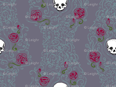Where the Wild Roses Grow (Moody Purple Small)
