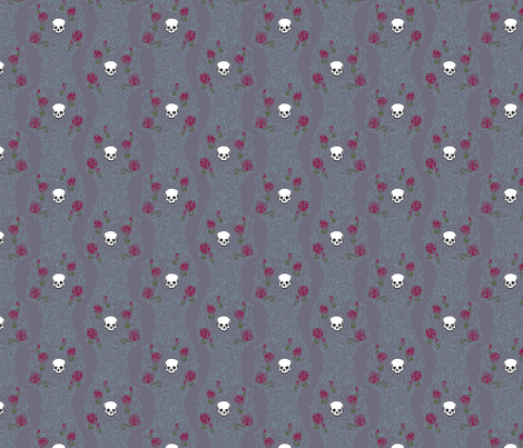 Where the Wild Roses Grow (Moody Purple Small) fabric by leighr on Spoonflower - custom fabric