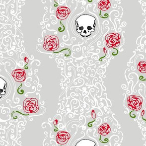 Where the Wild Roses Grow (Grey/White)
