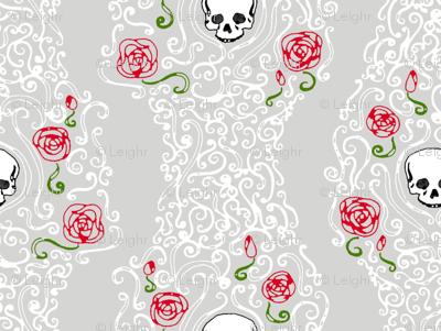 Where the Wild Roses Grow (Grey/White Small)