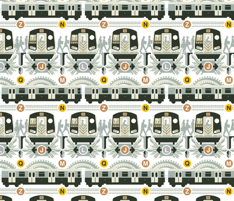 Move NYC fabric by chad_grohman on Spoonflower - custom fabric
