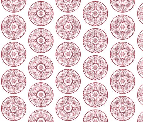 sprudla_dot_mustard_wine fabric by snork on Spoonflower - custom fabric