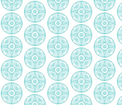 sprudla_dot_aquatic_blue fabric by snork on Spoonflower - custom fabric