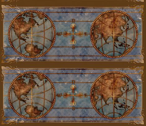 World Map 2 fabric by jadegordon on Spoonflower - custom fabric