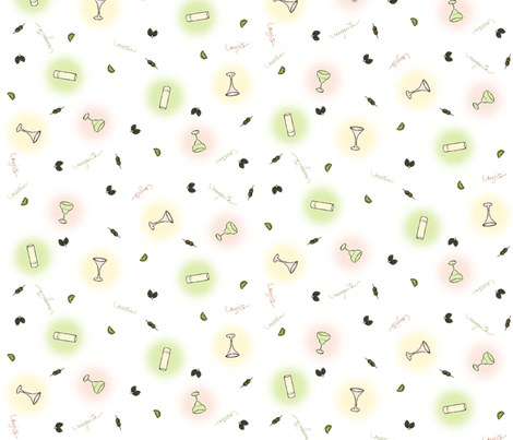 Cocktails with the 3 M's fabric by lulakiti on Spoonflower - custom fabric