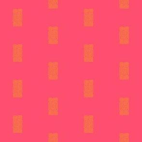 Inca Square Red/Orange