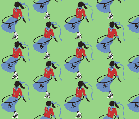 Hoola Hoops, Poodle Skirts and Saddle Shoes fabric by karenharveycox on Spoonflower - custom fabric