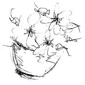 Flower Bowl Sketch