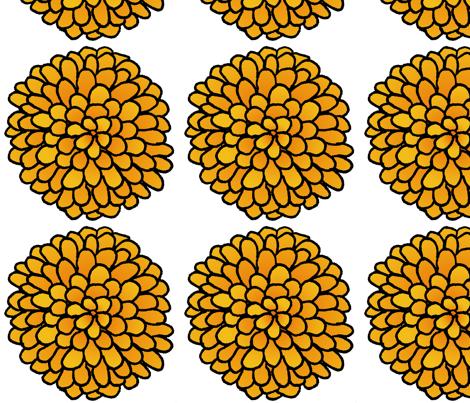 Marigold - Big fabric by designergal on Spoonflower - custom fabric