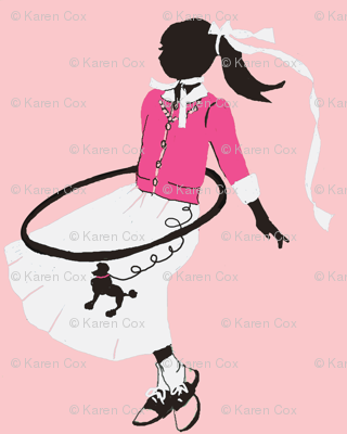 Hoola hoops and bobby socks and pink saddle shoes
