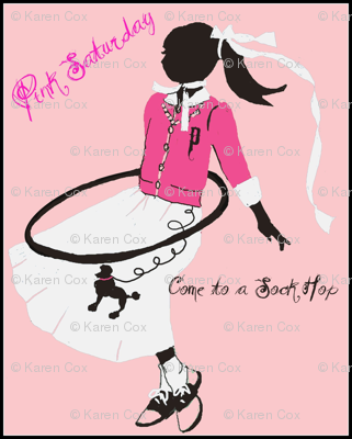 Pink Saturday, Poodle Skirts and Hoola Hoops-ed
