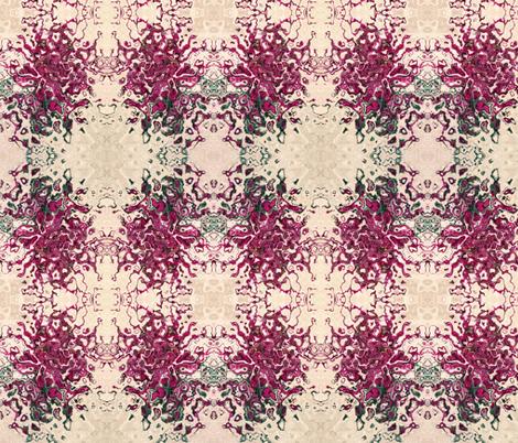 6 petal pink flower a1 fabric by yarrow4 on Spoonflower - custom fabric