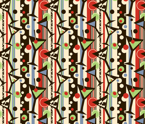 Teeny Martinis fabric by twobloom on Spoonflower - custom fabric
