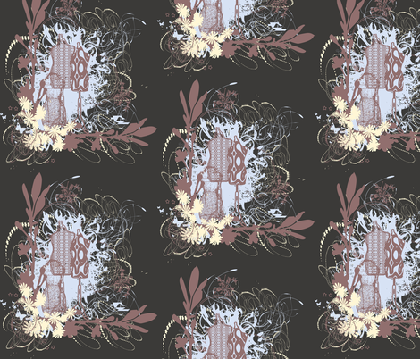 Ornamental Fashion Inspired Design fabric by kristenstein on Spoonflower - custom fabric